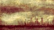 Chicago Skyline Prints - Someone To Hold You Beneath Darkened Sky Print by Dana DiPasquale