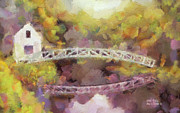 Somesville Maine Prints - Somes Bridge - Somesville Maine Print by Anne Kitzman