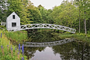 Somesville Maine Prints - Somes Bridge Print by Anne Kitzman