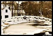 Somesville Photos - Somesville Bridge in Winter by Lyana Votey
