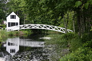 Clapboard House Prints - Somesvilles White Bridge Print by Christiane Schulze