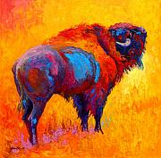 Bison Art - Something In The Air by Marion Rose
