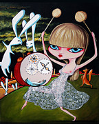 Dancing Girl Paintings - Something to bang on about by Leanne Wilkes