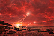 Lightning Strike Digital Art Framed Prints - Something Wicked Framed Print by Paul Topp