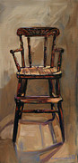 Kitchen Chair Paintings - Somethings Missing.  by Christine Montague
