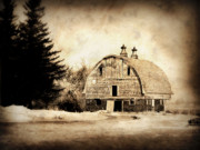 Barn Digital Art Metal Prints - Somethings missing Metal Print by Julie Hamilton