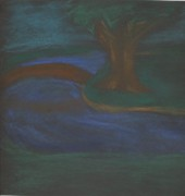 Water Pastels - Somewhere at night by Alexandra Mallory
