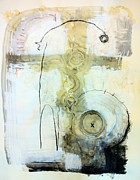 Charcoal Mixed Media - Somewhere Between Space and Time 4 by Mark M  Mellon