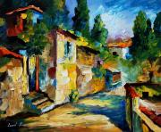 Building Painting Originals - somewhere in Israel by Leonid Afremov