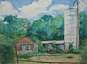 Dilapidated Farm Originals - Somewhere near Buttzville by Eva Ryczaj Lemmo