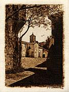 On Paper Pyrography Originals - Somewheren Toscana by Dino Muradian