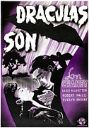 1940s Poster Art Framed Prints - Son Of Dracula, Aka Draculas Son Framed Print by Everett