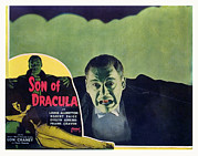 Lobbycard Framed Prints - Son Of Dracula, Lon Chaney, Jr., Inset Framed Print by Everett