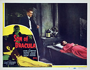 Lobbycard Framed Prints - Son Of Dracula, Lon Chaney Jr., Louise Framed Print by Everett