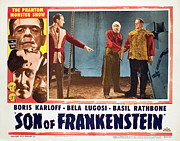 Horror Movies Posters - Son Of Frankenstein, Basil Rathbone Poster by Everett