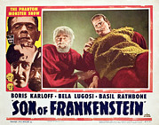 Horror Movies Framed Prints - Son Of Frankenstein, Bela Lugosi, Boris Framed Print by Everett
