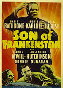 Horror Movies Photos - Son Of Frankenstein, Top Boris Karloff by Everett