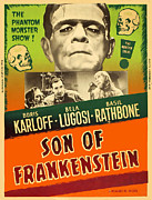 Horror Movies Photos - Son Of Frankenstein, Top Center Boris by Everett