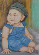China Pastels Framed Prints - Son of Tang Hong Bo Framed Print by Neil Trapp