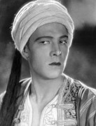 Rudolph Photo Prints - Son Of The Shiek, Rudolph Valentino Print by Everett