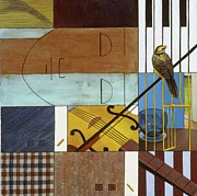 Cage Paintings - Song Bird by Yisehak Fikre-Sellassie
