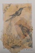 Song Mixed Media Originals - Song Birds by Roberta Rose