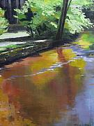 Vertical Landscape Paintings - Song of September - Silver Creek by Melody Cleary