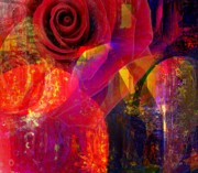 Faniart Mixed Media - Song of Solomon - Rose of Sharon by Fania Simon