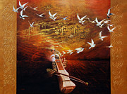 Song Of The Sunset Print by S Jaswant