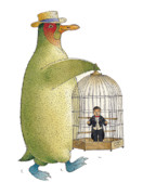 Song Birds Metal Prints - Songmen02 Metal Print by Kestutis Kasparavicius