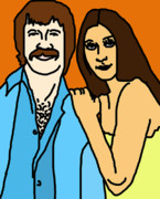 Cher Art - Sonny and Cher by Jera Sky
