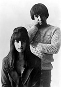1960s Hairstyles Photos - Sonny & Cher, Sonny Right, Cher Left by Everett