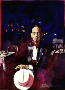Icon Painting Prints - Sonny Greer jazz drummer Print by David Lloyd Glover
