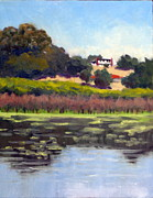 Grapevines Painting Originals - Sonoma Pond by Char Wood