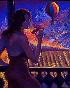 Hot Air Paintings - Sonoma Sunrise by Ellen Dreibelbis