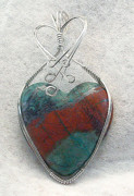 Handcrafted Jewelry - Sonora Sunrise Heart by Linda Ray