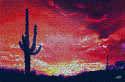 One Planet Infinite Places Digital Art - Sonoran Sunrise by Steve Huang