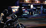 Harley Davidson Paintings - Sons of Anarchy Jax Teller Signed Prints available at laartwork.com Coupon Code KODAK by Leon Jimenez