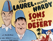 Fez Framed Prints - Sons Of The Desert, Stan Laurel, Oliver Framed Print by Everett