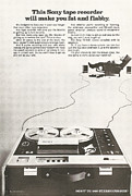 Listen Prints - Sony Vintage Advert Print by Nomad Art And  Design