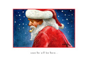 Santa Claus Paintings - Soon he will be here... by Will Bullas