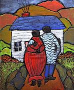 Folk Art Paintings - Soon to be Three by Wayne Potrafka