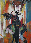Dancers Mixed Media Framed Prints - Sopheia and Lu lu stage 4 Framed Print by Joanne Claxton