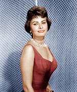 Drop Earrings Metal Prints - Sophia Loren, Ca. 1950s Metal Print by Everett