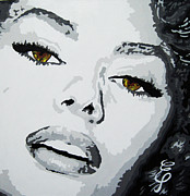 Lips  Paintings - Sophia Loren by Erik Pinto
