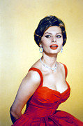 Loren Framed Prints - Sophia Loren, Late 1950s Framed Print by Everett