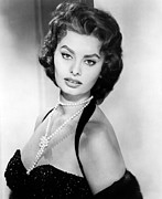 Straps Photo Prints - Sophia Loren, Portrait Circa 1957 Print by Everett