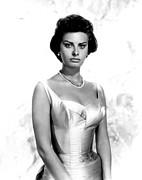 Loren Framed Prints - Sophia Loren, Portrait Circa 1959 Framed Print by Everett