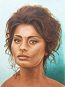 Hollywood Painting Originals - Sophia Loren by Rob De Vries