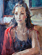 Shawl Paintings - Sophia  by Mathew McFarren